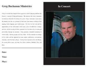 Greg Buchanan Ministries - Bulletin
